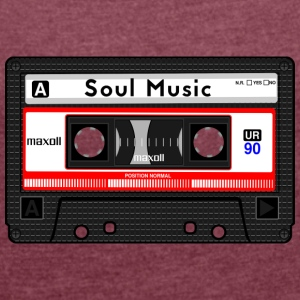 SOUL MUSIC CASSETTE - Women's T-shirt with rolled up sleeves
