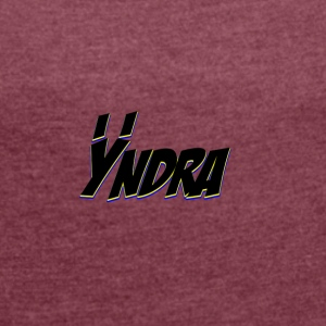 Yndra-Logo'2'-Mix'n'Match - Women's T-shirt with rolled up sleeves