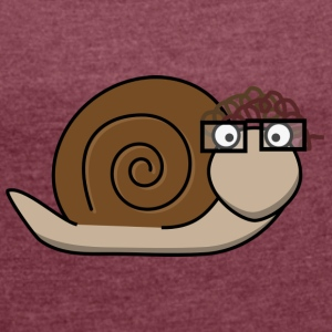 Old brown snail - Women's T-shirt with rolled up sleeves