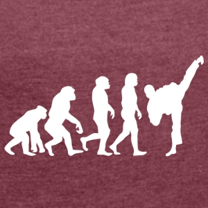 ++ ++ Martial Arts Evolution - Women's T-shirt with rolled up sleeves
