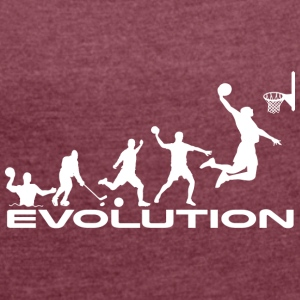 Basketball evolution - Dame T-shirt med rulleærmer