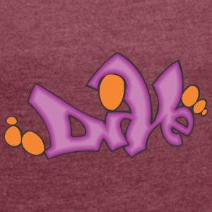 dove 2 graffiti - Women's T-shirt with rolled up sleeves