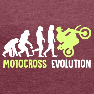 ++ ++ Motocross Evolution - Women's T-shirt with rolled up sleeves