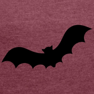 Bat / bloodsuckers / Bat Wing Design - Women's T-shirt with rolled up sleeves