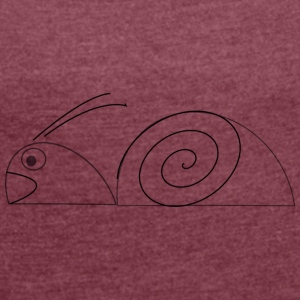 Baby snail - Women's T-shirt with rolled up sleeves