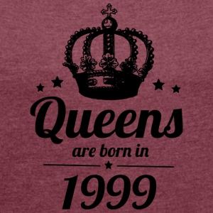 Queen 1999 - Women's T-shirt with rolled up sleeves
