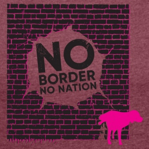 No nation - no limits - Women's T-shirt with rolled up sleeves