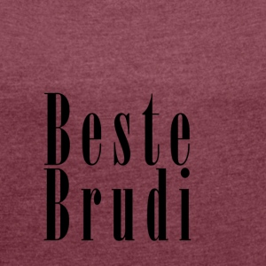 Brudi_black - Women's T-shirt with rolled up sleeves