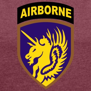 USA 13th AIRBORNE DIVISION - Women's T-shirt with rolled up sleeves