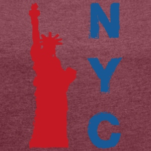 New York - Dame T-shirt med rulleærmer