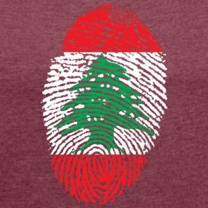 LEBANON 4 EVER COLLECTION - Frauen T-Shirt mit gerollten Ärmeln