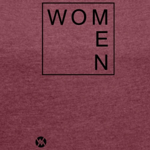 Women - Women's T-shirt with rolled up sleeves