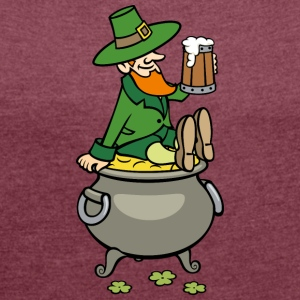 pot of gold - Women's T-shirt with rolled up sleeves