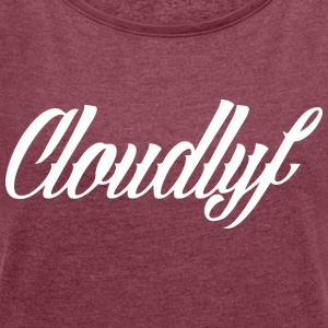 cloudlife_logo_sam_adams - Women's T-shirt with rolled up sleeves