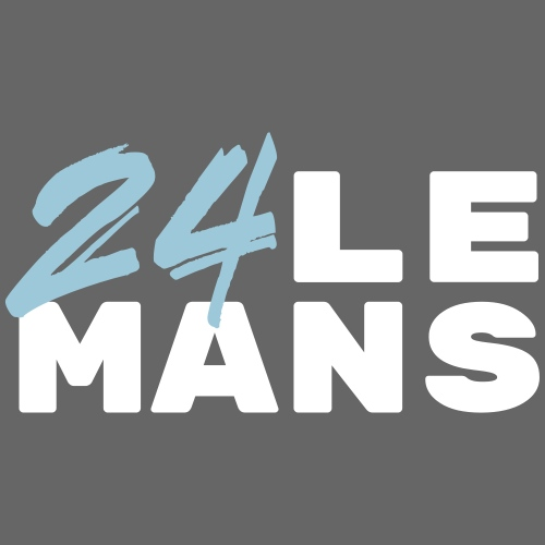 24h Le Mans (bleu) - Frauen T-Shirt mit gerollten Ärmeln