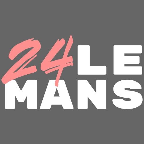 24h Le Mans (rose) - Frauen T-Shirt mit gerollten Ärmeln