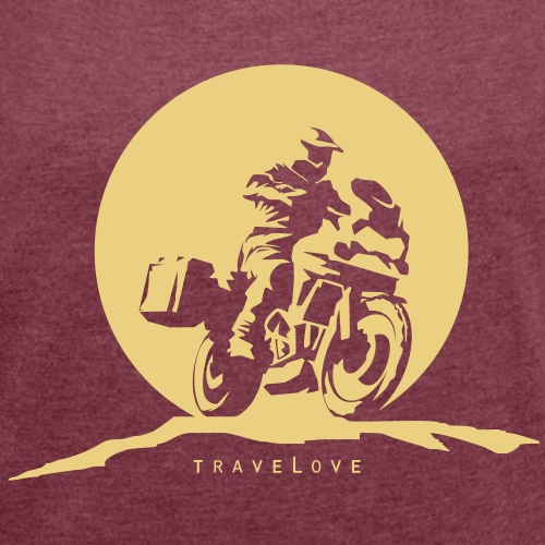 ADV Rider Motorradreisender - Frauen T-Shirt mit gerollten Ärmeln