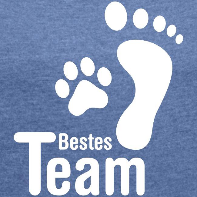Vorschau: Bestes TEAM - Frauen T-Shirt mit gerollten Ärmeln