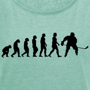 evolution hockey - Dame T-shirt med rulleærmer