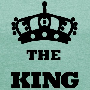 THE_KING - T-shirt med upprullade ärmar dam