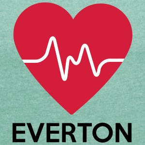 heart Everton - Women's T-shirt with rolled up sleeves