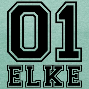 Elke - Name - Women's T-shirt with rolled up sleeves