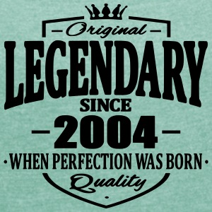 Legendary since 2004 - Women's T-shirt with rolled up sleeves