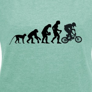 I love bikes - Women's T-shirt with rolled up sleeves