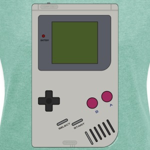 Old School Gaming - Women's T-shirt with rolled up sleeves