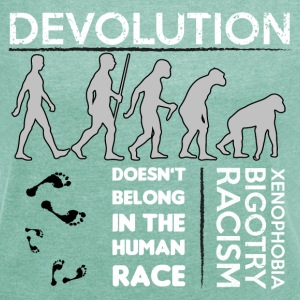 Devolution - Women's T-shirt with rolled up sleeves