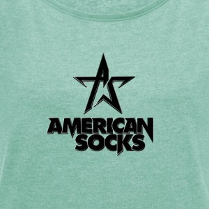 American Socks - Women's T-shirt with rolled up sleeves