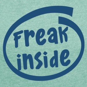 freak inside (1835C) - Women's T-shirt with rolled up sleeves