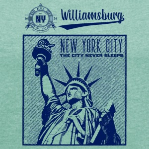 New York City · Williamsburg - T-shirt Femme à manches retroussées