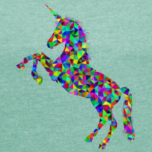 SWEET UNICORN COLLECTION - Vrouwen T-shirt met opgerolde mouwen