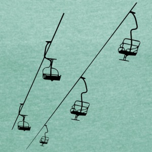 The Chairlift - Women's T-shirt with rolled up sleeves