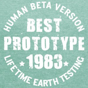 1983 - The year of birth of legendary prototypes - Women's T-shirt with rolled up sleeves