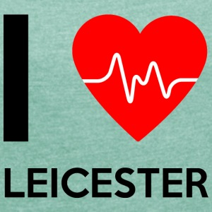 I Love Leicester - I love Leicester - Women's T-shirt with rolled up sleeves