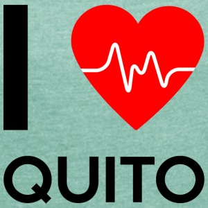 I Love Quito - I love Quito - Women's T-shirt with rolled up sleeves