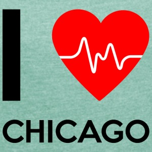 I Love Chicago - I love Chicago - Women's T-shirt with rolled up sleeves