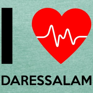 I Love Dar es Salaam - I Love Dar es Salaam - Women's T-shirt with rolled up sleeves