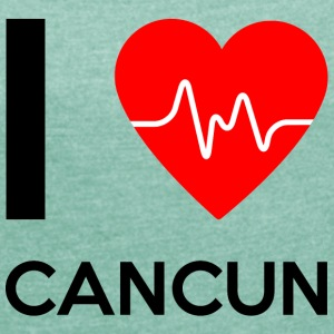 I Love Cancun - I love Cancun - Women's T-shirt with rolled up sleeves