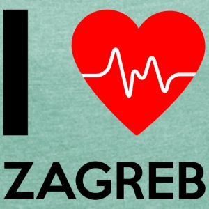 I Love Zagreb - I love Zagreb - Women's T-shirt with rolled up sleeves