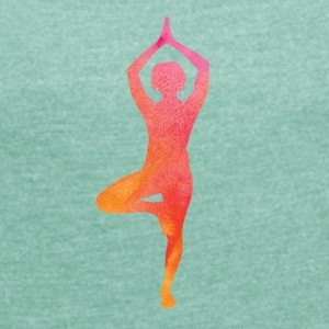 YOGA IS MY LIFE COLLECTION - Women's T-shirt with rolled up sleeves