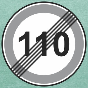 Road Sign 110 restriction - Women's T-shirt with rolled up sleeves