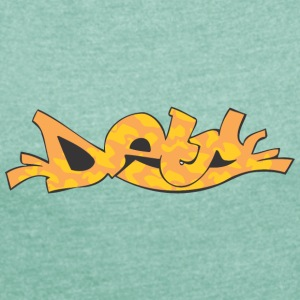 detn graffiti - Women's T-shirt with rolled up sleeves