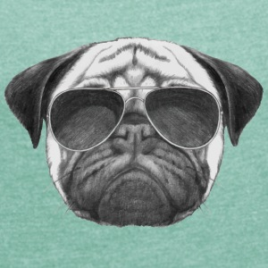 pug pug - Women's T-shirt with rolled up sleeves