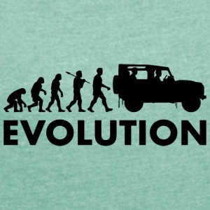 Evolution - Dame T-shirt med rulleærmer