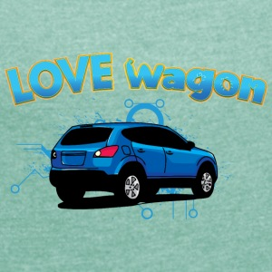 Love vagon - Women's T-shirt with rolled up sleeves