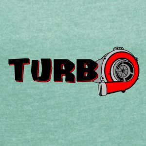 TURBO - Women's T-shirt with rolled up sleeves
