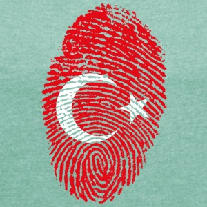 IN LOVE WITH TURKEY - Frauen T-Shirt mit gerollten Ärmeln